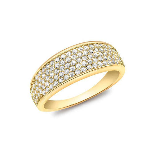 5 Row Pave Set Ring-Q1/2