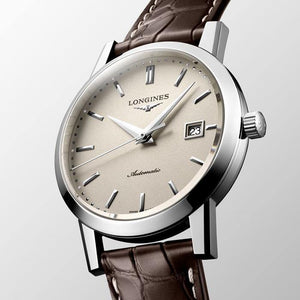 Longines Heritage Gents on Brown Leather - Rocks Jewellers