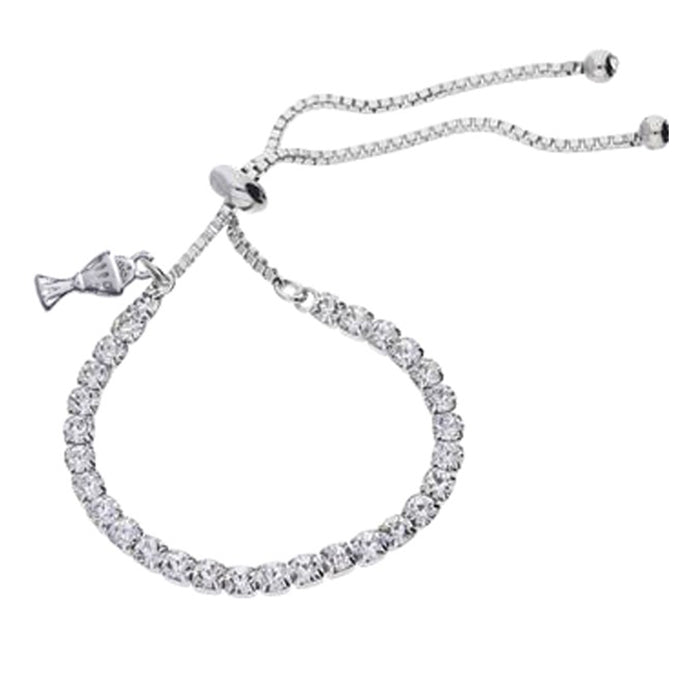 CZ Tennis Bracelet with Chalice