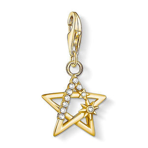 Gold CZ Star Pendant Charm - Thomas Sabo - Rocks Jewellers