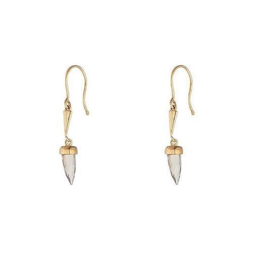 Rocks Gold Smokey Quartz Drop Earrings - Rocks Jewellers