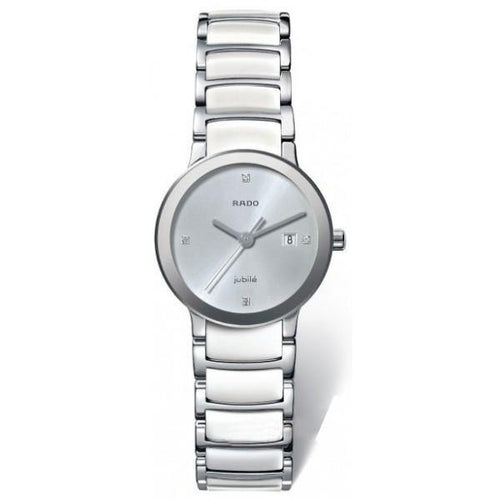 Centrix Jubile Ladies White Ceramic with Diamonds