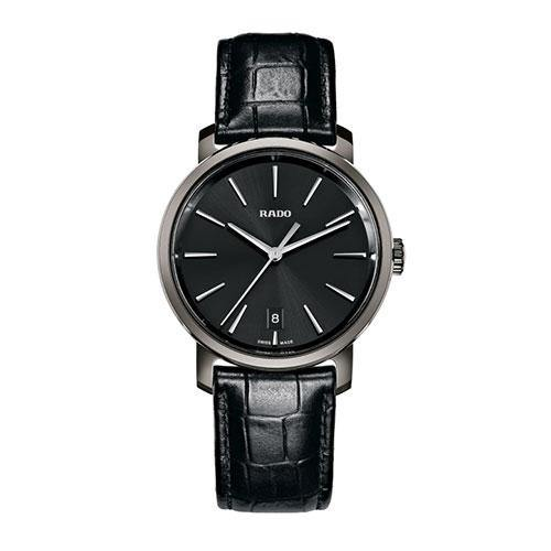 DiaMaster Gents on Black Leather Watch