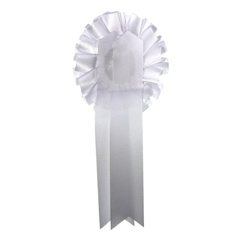 White Rosette-|Medal Not Included|