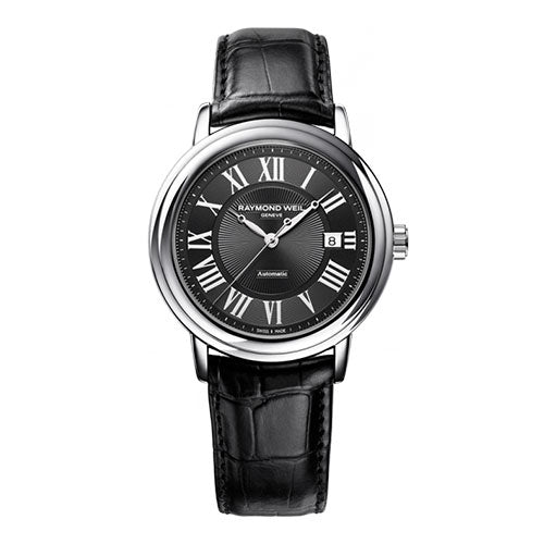 Maestro Gents Automatic on Black Leather
