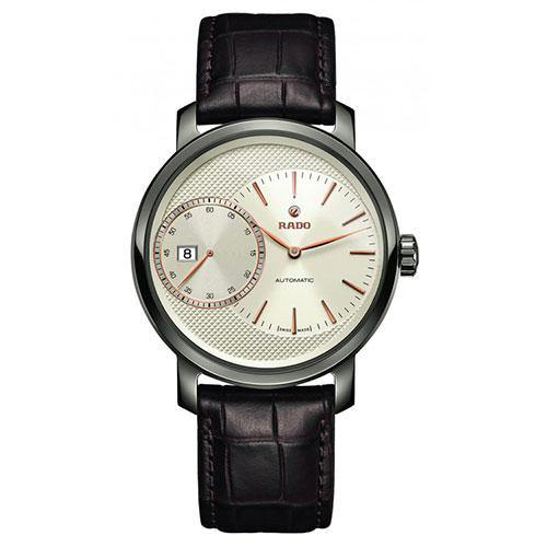 Rado DiaMaster Gents on Dark Brown Leather - Rocks Jewellers