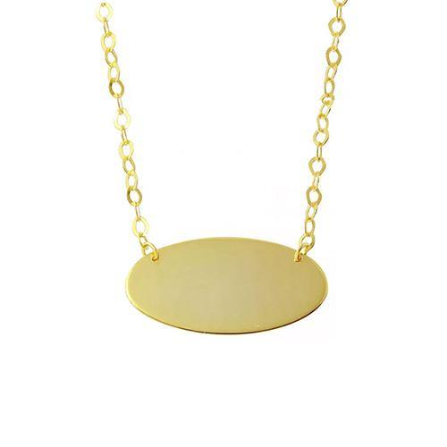Rocks Gold Oval Necklace - Rocks Jewellers