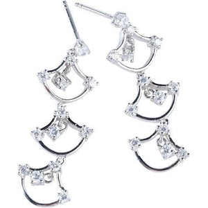 CZ Chandelier Drop Earrings