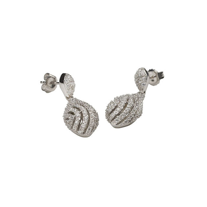 Pave Set CZ Dress Earrings