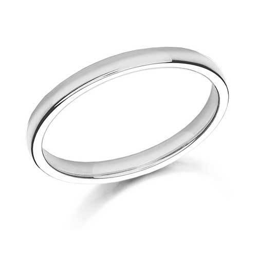 18k Gold 2mm Wedding Band