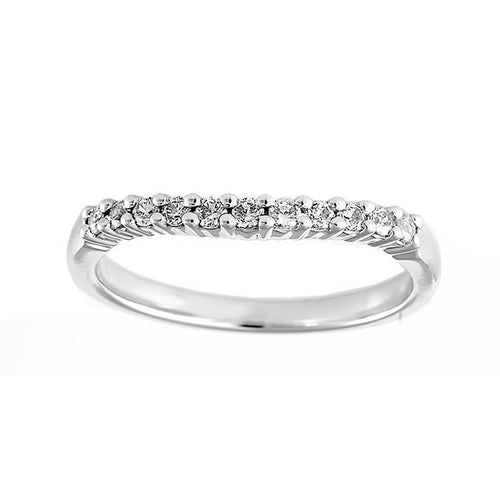 Curved Diamond Set Wedding Band