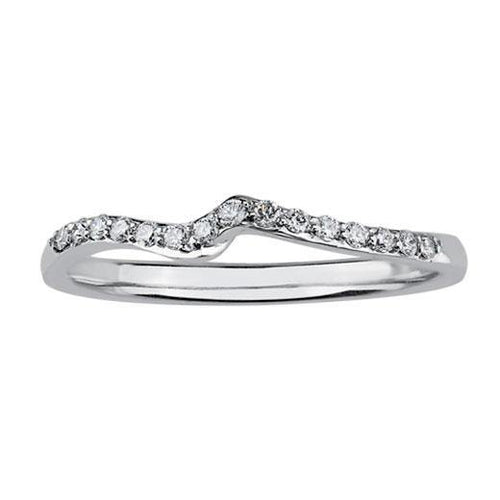 Diamond Set Twist Wedding Band