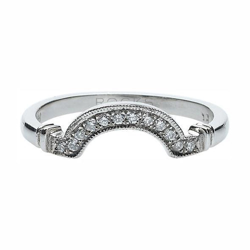 Eva Diamond Grain Set Wedding Band