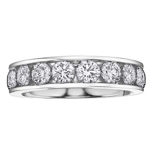 Ladies Channel Set Wedding Ring