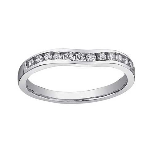 Ladies Curved Wedding Band