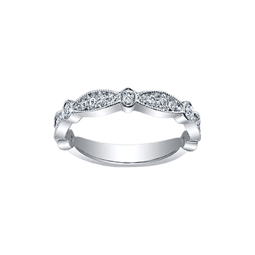 Ladies Curved Wedding Ring