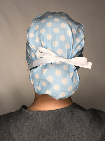 Light Blue with Large White Polka Dots - SNIPSxMontana