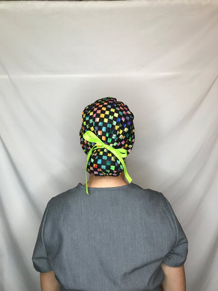 Black Checker with Neon - SNIPSxMontana