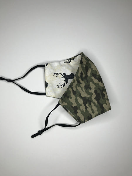 Camo and Deer Reversible Face Mask - SNIPSxMontana