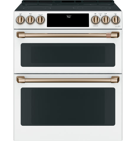 GE Cafe Matte White Double Oven Range