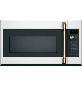 GE Cafe Matte White 1.7 CU.FT Convection OTR Microwave