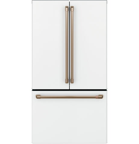 GE Cafe Matte White 23 CU.FT Counter Depth Fridge
