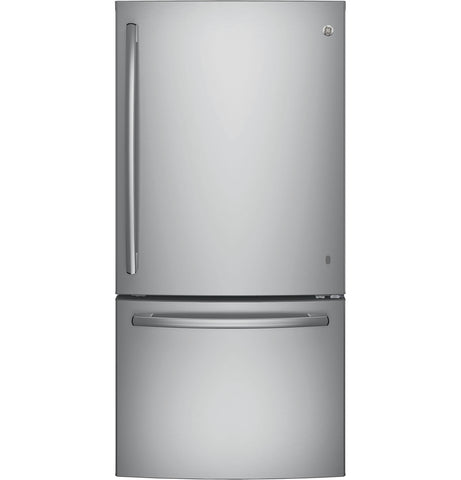 GE Stainless 25 CU.FT Bottom Mount Fridge
