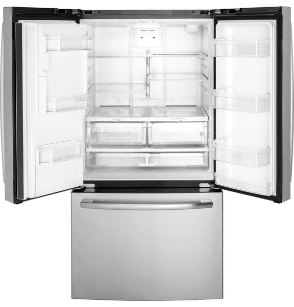 "GE Stainless 36"" Wide, 25.5 CU.FT Fridge"