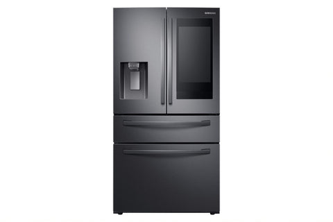 "Samsung Black Stainless 36"" 28 CU.FT 4 Door Fridge With Smart Hub"