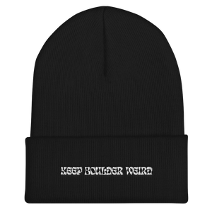 Keep Boulder Weird Cuffed Beanie