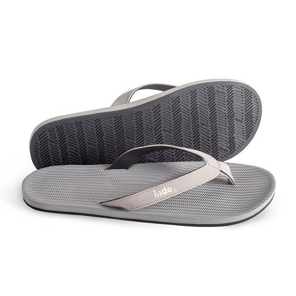 Mens 100% recycled thongs in granite grey by Indosole Australia