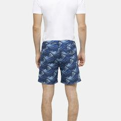 Bay Short - Waves in Indigo