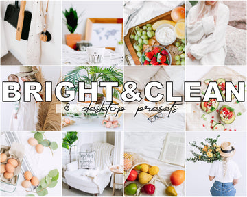 Bright and Clean Desktop Lightroom Presets - Hyggely Presets and Branding