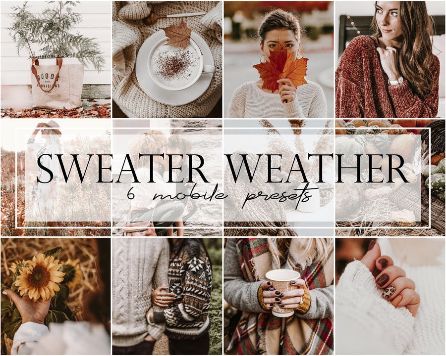 Sweater Weather Mobile Lightroom Presets - Hyggely Presets and Branding