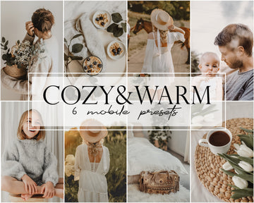Cozy & Warm Mobile Lightroom Presets - Hyggely Presets and Branding