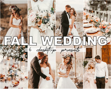 Fall Wedding Desktop Lightroom Presets - Hyggely Presets and Branding