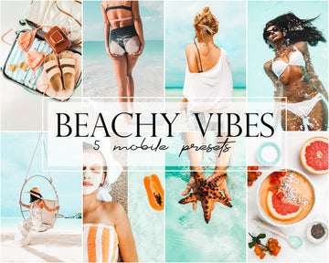 Beachy Vibes Mobile Lightroom Presets
