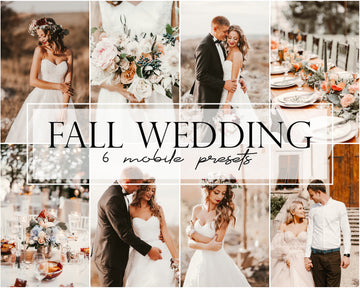 Fall Wedding Mobile Lightroom Presets - Hyggely Presets and Branding