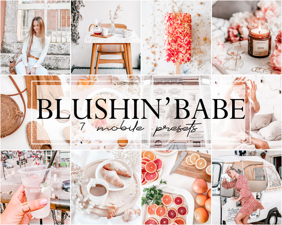 Blushin' Babe Mobile Lightroom Presets - Hyggely Presets and Branding