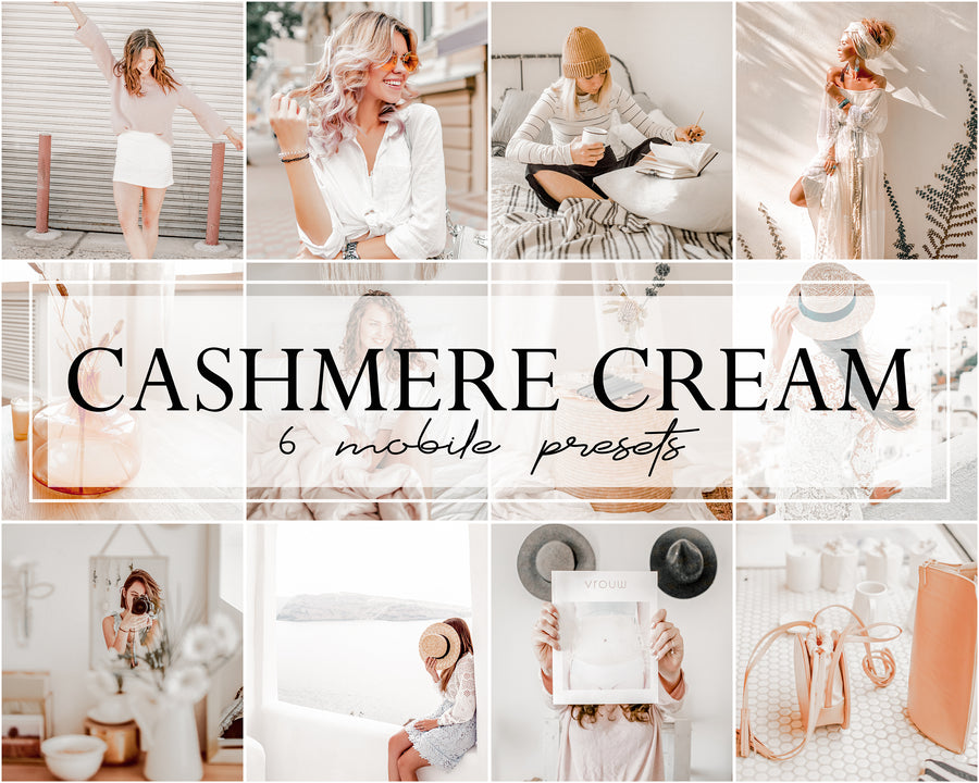 Cashmere Cream Mobile Lightroom Presets - Hyggely Presets and Branding