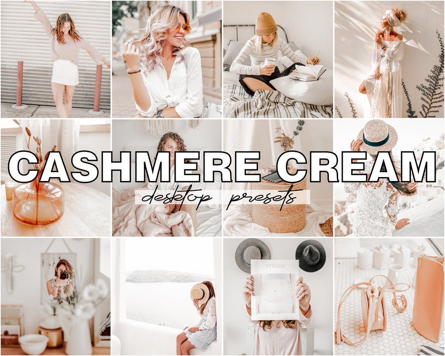 Cashmere Cream Desktop Lightroom Presets - Hyggely Presets and Branding