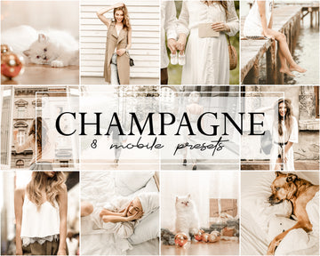 Champagne Mobile Lightroom Presets - Hyggely Presets and Branding