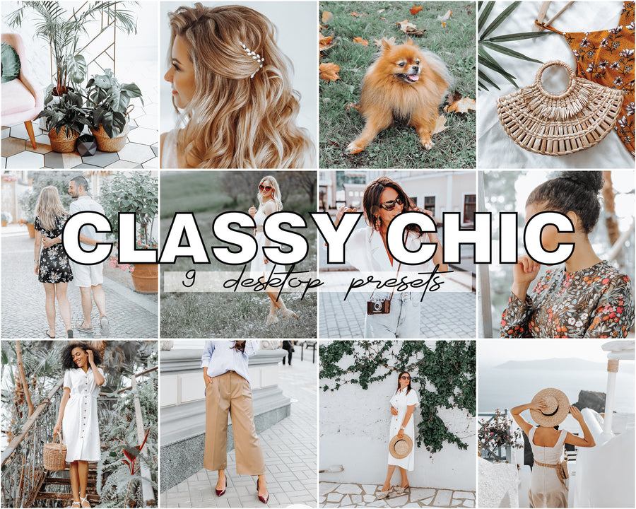 Classy Chic Desktop Lightroom Presets - Hyggely Presets and Branding
