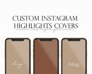 Custom Instagram Highlight Covers - Hyggely Presets and Branding
