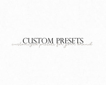 Custom Lightroom Presets - Hyggely Presets and Branding