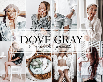 Dove Gray Mobile Lightroom Presets - Hyggely Presets and Branding