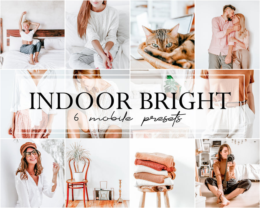 Indoor Bright Mobile Lightroom Presets - Hyggely Presets and Branding