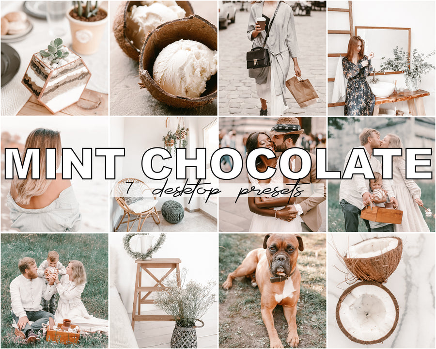 Mint Chocolate Desktop Lightroom Presets - Hyggely Presets and Branding