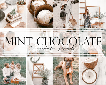 Mint Chocolate Mobile Lightroom Presets - Hyggely Presets and Branding