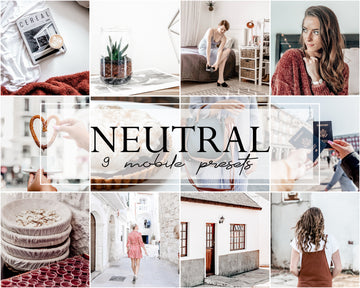 Neutral Mobile Lightroom Presets - Hyggely Presets and Branding